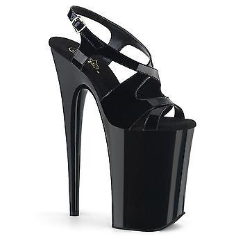 Pleaser zapatos para mujer INFINITY-930 Blk Pat/Blk