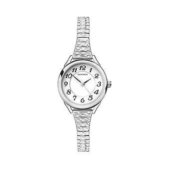 Sekonda 2638 White And Silver Ladies Expander Watch