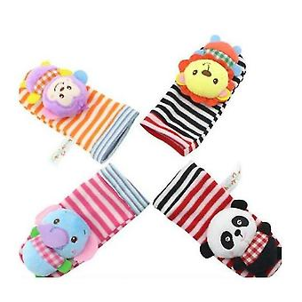 Soft Baby Socks Toy Rattle And Foot Guard (funny Butterflies And Ladybugs)(S2)