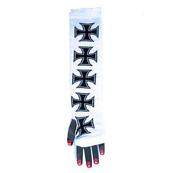 Armwärmer - Malteserkreuz Schwarz/Weiß