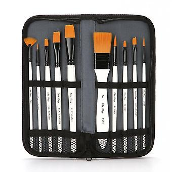 Paint Brushes Set 10 Pcs Nylon Hair Professional Paint Brushes Artist For Kids And Adults