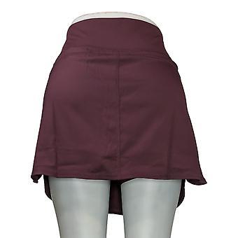 zuda Petite Skirt Regular Cityscape Skort w/ Pockets Purple A381038