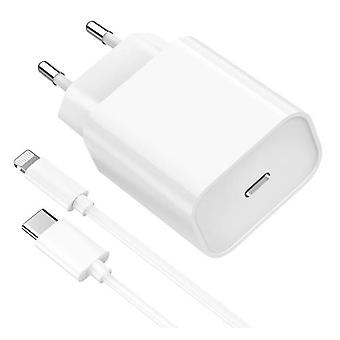20w Fast Charger + Lightning Usb-c Cable For Iphone 13/13 Mini / 13 Pro / 13 Pro Max / 12/12 Mini / 12 Pro / 12 Pro Max / 11/11 Pro / 11 Pro Max / X /
