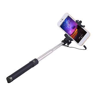 Kädessä pidettävä laajennettava langallinen selfie-tikku taittuva selfie-tikku iphonelle