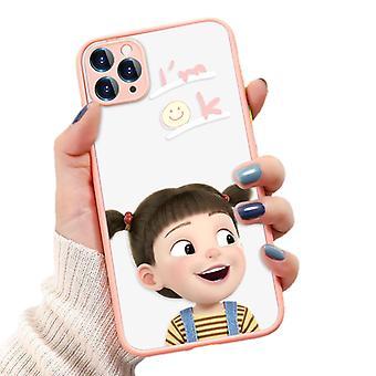 Hauska tyttö maalattu puhelinkotelo Iphone Xs Max All-inclusive Puhelinkotelo (o138 Vaaleanpunainen)
