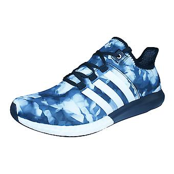 adidas CC ClimaChill Gazelle Boost Mens Running Trainers / Shoes - Black White and Grey