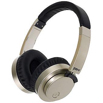 Groov-e Fusion bedrade of draadloze Bluetooth koptelefoon - goud (GVBT400GD)