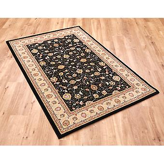 Noble Art 6529-090 Black ground with ivory and gold border. Rectangle Rugs Traditional Rugs