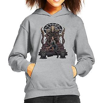 Alien Alternative Ending Ripley Chained Kid's Hooded Sweatshirt