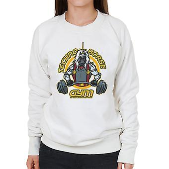 Techno Horse Gym Bravestarr Women's Sweatshirt