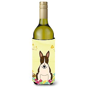 Easter Eggs Bull Terrier Dark Brindle Wine Bottle Beverge Insulator Hugger