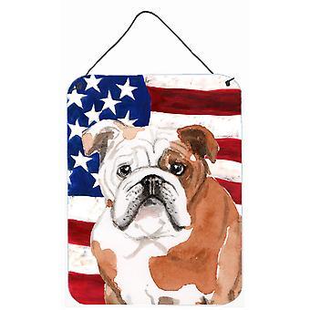 Englische Bulldogge patriotischen Wand oder Tür hängen Drucke