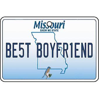 Missouri - melhor namorado matrícula refrogerador de ar de carro