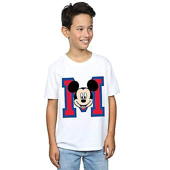 Disney Boys Mickey Mouse M Face T-Shirt
