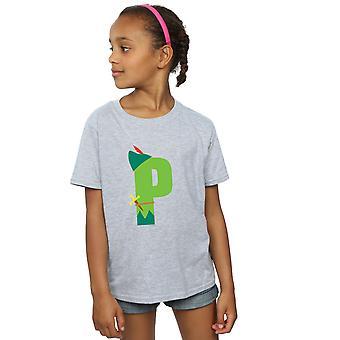 ديزني بنات الأبجدية P هو لبيتر بان تي شيرت