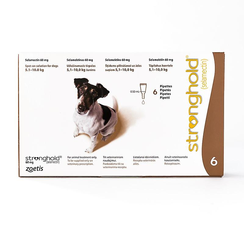 Stronghold for Dogs 5.1-10kg (11-22lbs) Brown, 6 Pack