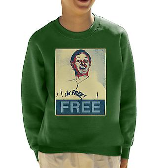Are You Being Served Mr Humphries Im Free Poster Style Kid's Sweatshirt