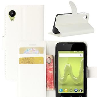 Poche portefeuille premium blanc-à WIKO ensoleillé protection 2 manches étui nouveau
