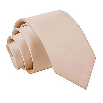 Mocha Brown platte satijnen slanke Tie