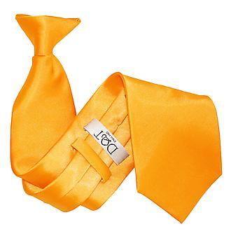 Fluorescerande Orange oformaterad Satin klipp på slips