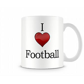 Jag älskar fotboll tryckta mugg