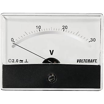 Analogue rack-mount meter VOLTCRAFT AM-86X65/30V/DC