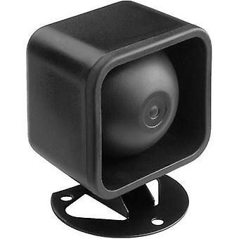 Monacor NR-18KS Compression drive speaker 10 W Black 1 pc(s)