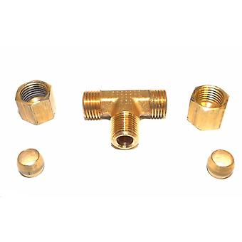 """Big A Service Line 3-17242 Hydraulic Tee Connector Fitting 1/4"""" x 1/8"""""""