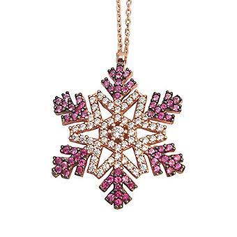 Snow Flake 18 kt rose gold Halskette