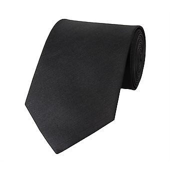 Knytte slipset binde bånd 8cm svart uni Fabio Farini