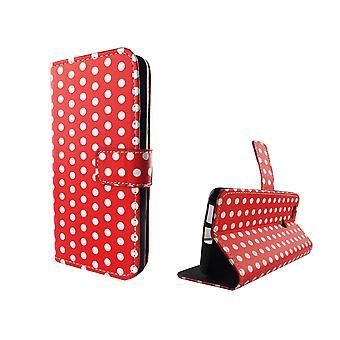 Telefon komórkowy etui sprawa dla mobile Huawei Nova polka dot Red