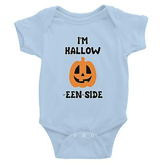 Hollow Inside Pumpkin Baby Bodysuit Gift Sky Blue