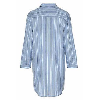 Mens mester børstet bomull Nightshirt Sleepwear Sleepwear lyseblå XL