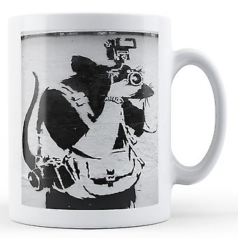 Banksy Printed Mug - Rat as a Pap - BKM329