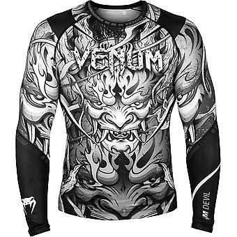 Venum Devil Long Sleeve MMA Compression Rashguard - White/Black