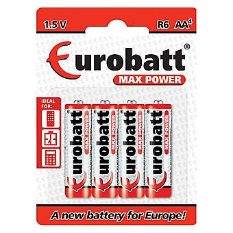 Eurobto Max Power 1.5 v R6 AA Battery (4-pack)