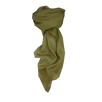 Maulbeer Seide Hand gefärbt Quadrat Schal Taupe von Pashmina & Seide