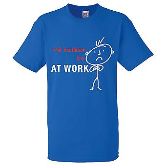 Mens I'd Rather Be At Work Royal Blue Tshirt