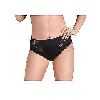 Nessa P2 Women's Mamma Black Solid Colour Knickers Panty Brief