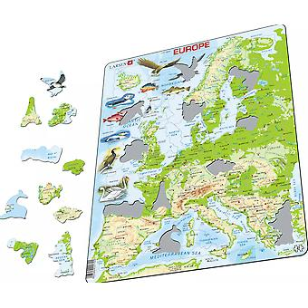 Map of Europe with Animals - Frame/Board Jigsaw Puzzle 29cm x 37cm (LRS K70-GB)