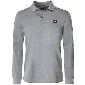 Paul and Shark Long Sleeve Pique Cotton Polo Shirt