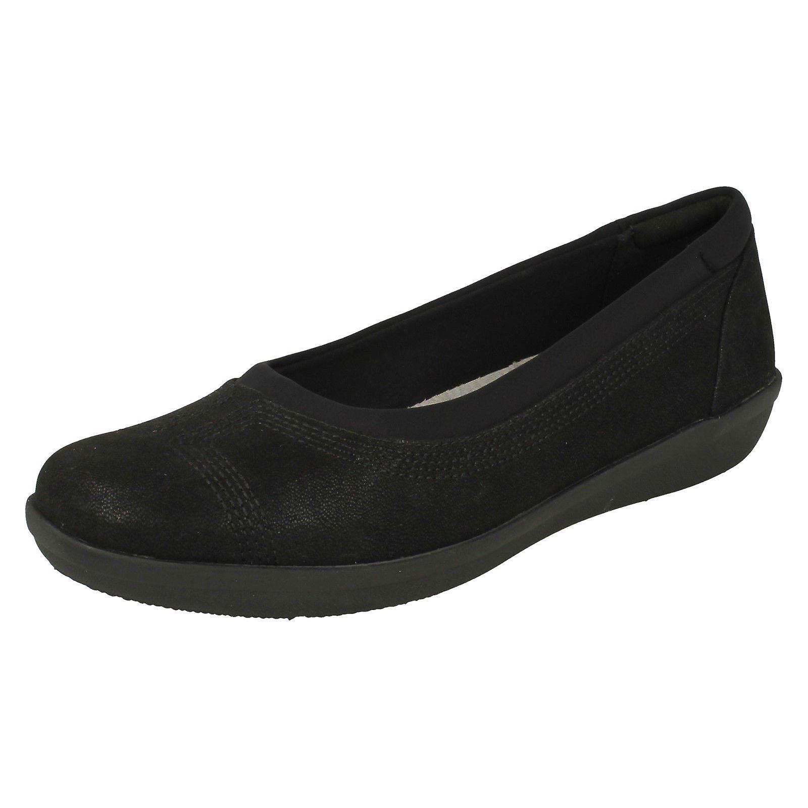 Clarks damskie w chmurze steppery płaskie buty Ayla Low G7TOr