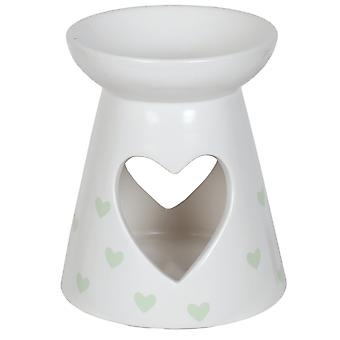Aroma Cut Out Heart Melt Burner, Green