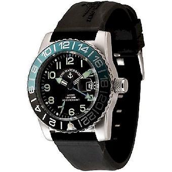 Zeno-horloge mens watch vliegtuig duiker automatische 6349GMT-12-a1-4