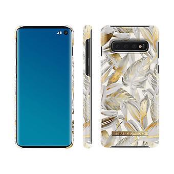 iDeal Of Sweden Samsung Galaxy S10-Platinum Foglie