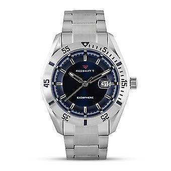 Redshift 7 Exosphere Bracelet Watch w/Date - Silver/Blue