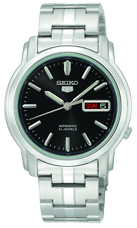 Seiko 5 Automatic Black Dial Stainless Steel Men's Watch SNKK71K1