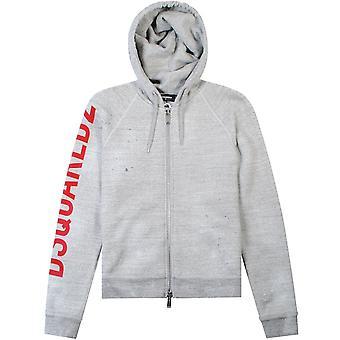 DSquared2 arm logo hoodie grijs