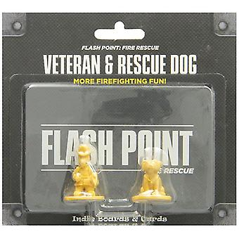 Flash Point Fire Rescue Expansion Veteran and Rescue Dog Pack