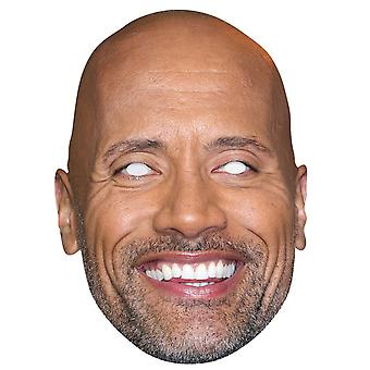 Dwayne Johnson Celebrity Single 2D Card Party Fancy Dress Mask